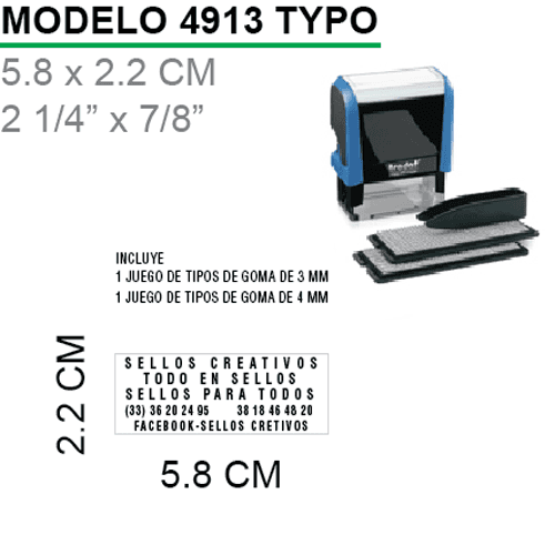 Sello-Autoentintable-4913-Typo-Negro