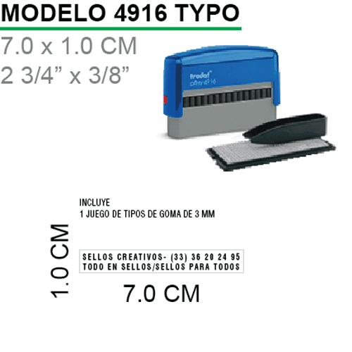 Sello-Autoentintable-4916-Typo-Negro